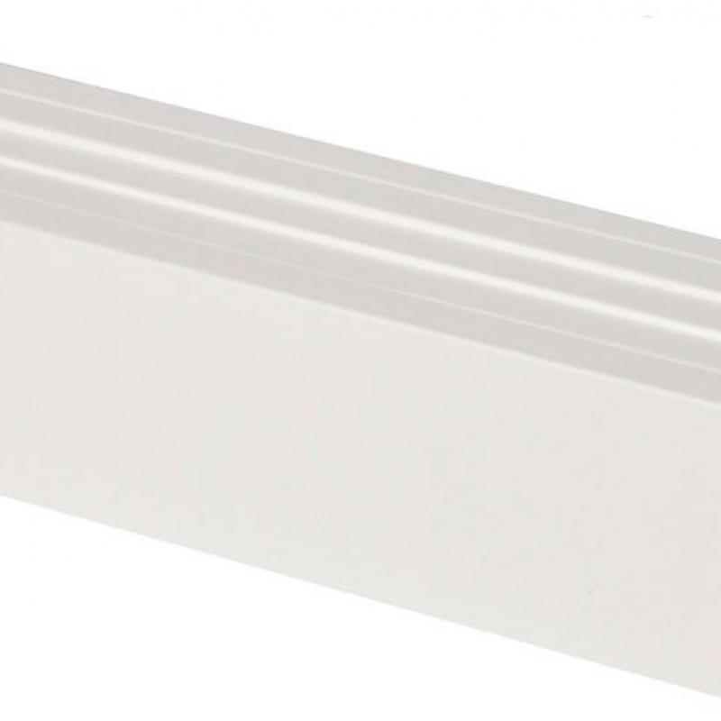 Rodapié Blanco Laminado 80 mm x 15 mm