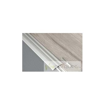 Perfil Adaptador BerryAlloc Aluminio Plata Producto Accesorio de Tarima BerryAlloc Riviera Roble Blanco Lis 3040-3820