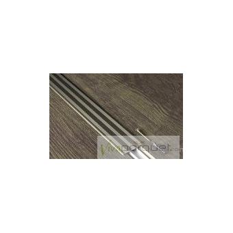 Perfil Dilatación BerryAlloc Aluminio Champaña Producto Accesorio de BerryAlloc Titanium Roble Gris Plateado 3110-3754