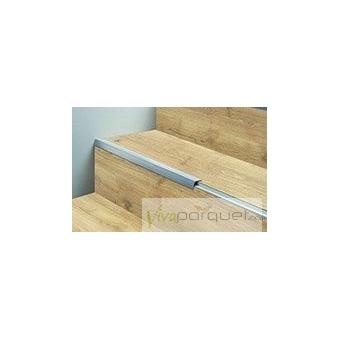 Perfil Escalera BerryAlloc Aluminio de Solape Producto Accesorio de BerryAlloc Riviera Olmo Verano 3040-3015