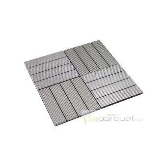 TARIMA COMPOSITE Producto Loseta Composite Gris Silver 300x300
