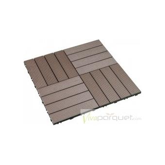 TARIMA COMPOSITE Producto Loseta Composite Chocolate 300x300