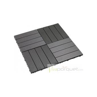 LOSETAS COMPOSITE WPC Producto Loseta Composite Gris 300x300