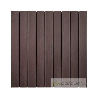 LOSETAS COMPOSITE WPC Producto Loseta Composite Chocolate 500x500