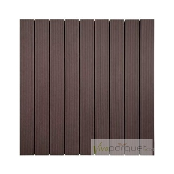 TARIMA COMPOSITE Producto Loseta Composite Chocolate 500x500