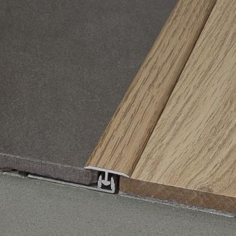 Perfil Dilatación Laminado Aluminio para Parquet Producto Accesorio de Essenz Natural 6176 Roble Claro Limpio 1 Lama