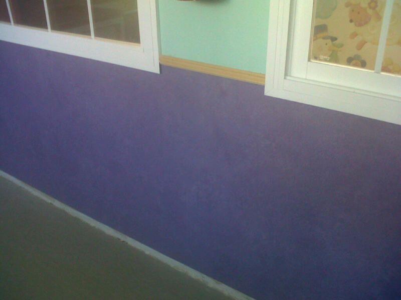 Perspectiva visual del suelo de vinilo en el aula de la guardería