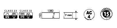 Características técnicas de parquet AC4 Kronopol Ever Green