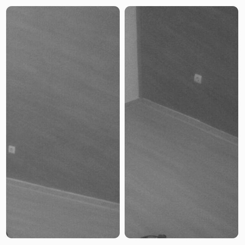 Suelo Laminado Instalado en pared y suelo, color gris