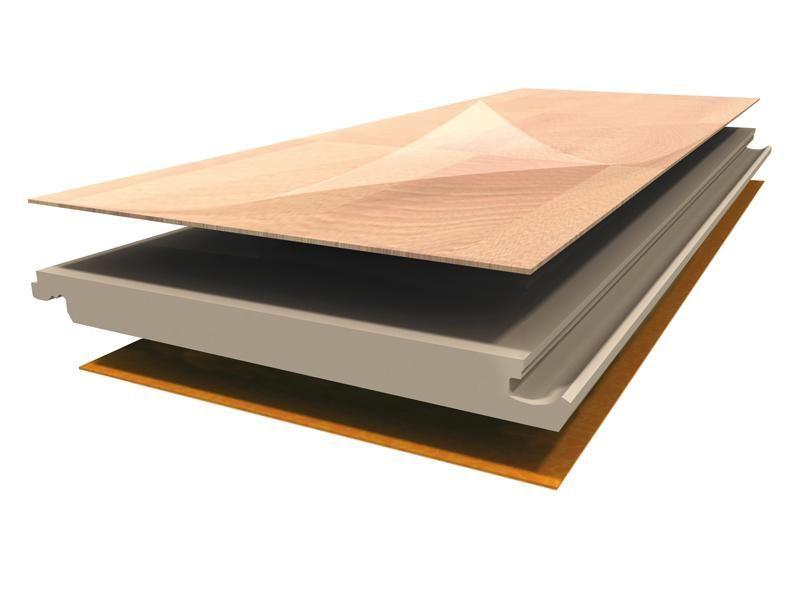 Vista de una tarima flotante, laminada o natural no utilizan madera en exceso